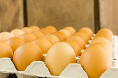 Raw eggs Stock Photo
