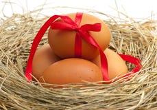 Raw eggs Stock Photography