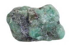 Raw emerald gemstone Stock Photos