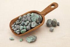 Raw emerald gemstones Royalty Free Stock Photos