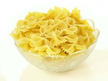 Raw farfalle Stock Images