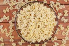 Raw farfalle pasta Stock Image