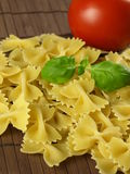 Raw farfalle pasta Royalty Free Stock Images