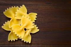 Raw Farfalle Pasta Stock Photos
