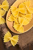 Raw Farfalle Pasta Royalty Free Stock Image