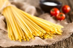 Raw Fettuccini Pasta Stock Photography