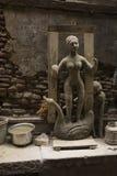 Raw figure of Hindu Goddess Saraswati Stock Image