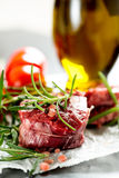 Raw filet mignon Stock Photography