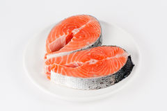 Raw filet of salmon Royalty Free Stock Photography