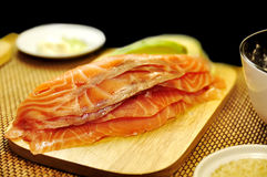 Raw filet of salmon Royalty Free Stock Photo