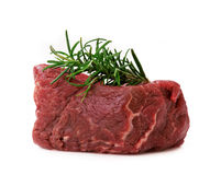 Raw filet steak Stock Images