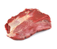 Raw fillet steak. Raw filet steak on the white background Royalty Free Stock Image
