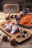 Raw fillet of chicken meat Stock Photography
