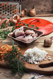 Raw fillet of chicken meat Royalty Free Stock Photos