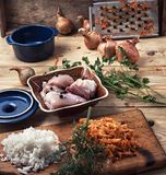 Raw fillet of chicken meat Royalty Free Stock Image
