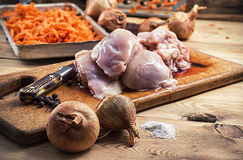 Raw fillet of chicken meat Royalty Free Stock Photo