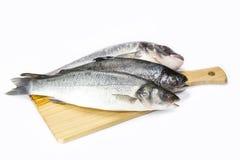 Raw fish on a cutting board Royalty Free Stock Photo