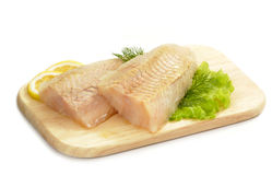 Raw fish fillet Stock Photography