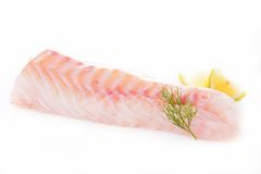 Raw fish fillet. Isolated on white Stock Photography