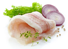 Raw fish fillet Stock Photo