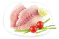 Raw fish fillets Royalty Free Stock Photo