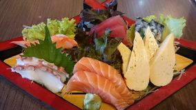 Raw fish gives a fresh feeling. Is a healthy food Royalty Free Stock Photography