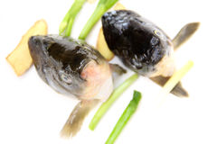 Raw fish head Stock Photography