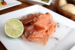 Raw fish on ice Royalty Free Stock Photos