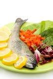 Raw fish meal Royalty Free Stock Photos