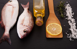 RAw fish with other ingredients Royalty Free Stock Photos