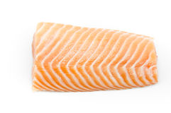 Raw fish Salmon on white background Stock Images