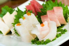 Raw Fish Sushi Flower Royalty Free Stock Photos