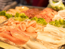 Raw fish at Taiwan night market Stock Image