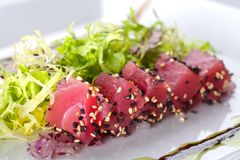 Raw fish tuna Stock Images