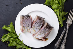 A raw fish Stock Photos