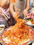 Raw Fish - Yusheng / Lo Hei. Raw fish, also know as Yusheng or Lo Hei, is a very popular dish in Singapore & Malaysia during Chinese New Year Stock Image