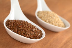 Raw Flax Seeds Stock Images