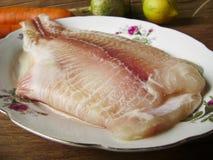Raw FLOUNDER fish fillet Stock Photo