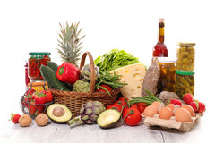 Raw food. Close up on fresh raw food Royalty Free Stock Photos