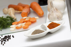 Raw Food and cooking Stock Image