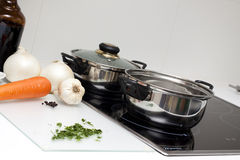 Raw Food and cooking Stock Photography