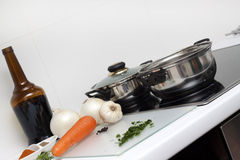 Raw Food and cooking Royalty Free Stock Photography