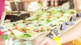 Raw food festival stock video footage
