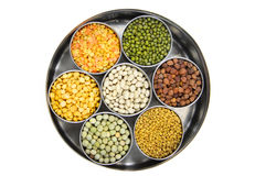 Raw food grains. Healthy colorful raw food grains of India Royalty Free Stock Photography