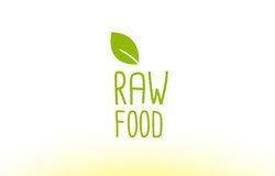 Raw food green leaf text concept logo icon design Stock Photography