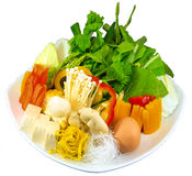 Raw Food Ingredient. The Isolation raw food ingredient in the decorated container stock photo