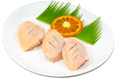 Raw Food Ingredient. The Isolation raw food ingredient in the decorated container stock images
