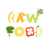 Raw food letter Stock Photos