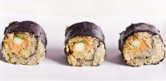 Raw food maki sushi stock images