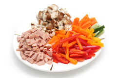 Raw Food Pieces Stock Photography